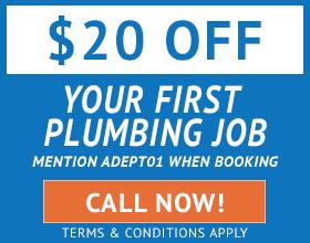 Adept Plumbing & Gas - Specials