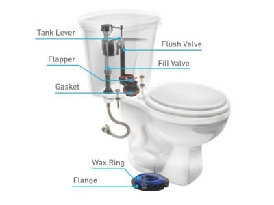 Adept Plumbing & Gas - Toilet Anatomy and Common Problems